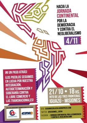 Hacia la Jornada Continental por la Democracia y contra el Neoliberalismo