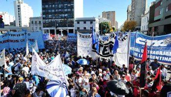 Este 1º de Mayo la CTA Autónoma marchó junto a movimientos sociales por trabajo con derechos
